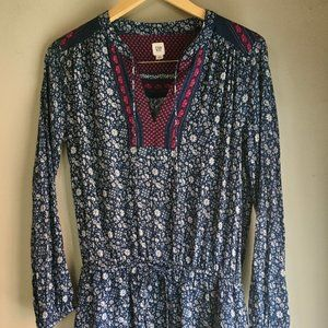 Long Sleeve GAP Floral Dress/ Tunic Size Medium